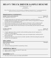 30 Best Of Sample Resume For Truck Driver With Experience