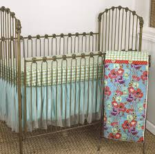 turquoise crib set fl crib bedding baby nursery cotton