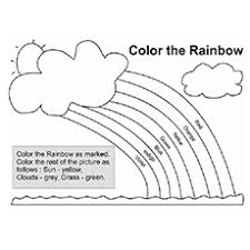 Make your kid color a rainbow to know the color identification & color refraction. Rainbow Coloring Pages Free Printables Momjunction