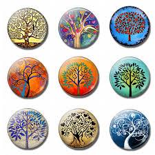 Klimt <b>Tree</b> of Life <b>30 MM</b> Fridge <b>Magnet</b> Gustav Klimt Glass ...