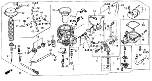 honda shadow carburetor diagram honda image wiring 2005 honda shadow vlx 600 vt600c carburetor 04 05 parts on honda shadow carburetor diagram