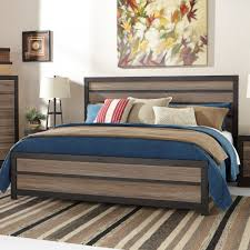 Ashley Furniture Harlinton King Panel Bed in Charcoal