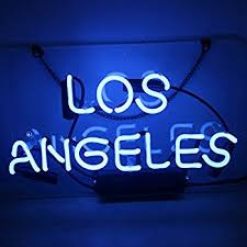 Neon Signs Los Angeles Gorgeous Neon Signs BlueLOS ANGELES Home Garden City Party Lovers Ball