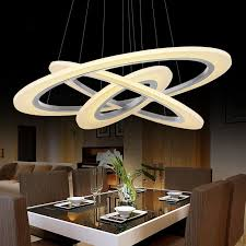 3 2 1 ring acrylic chandelier home