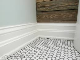penny tile with gray grout penny tile floor