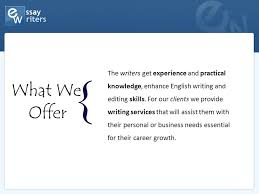 company presentation essaywriters net who we are we are a  5 the
