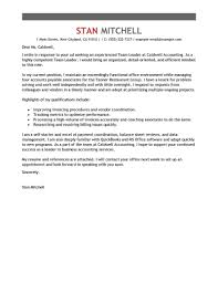 Team Leader Resume Cover Letter Best Management Team Lead Cover Letter Examples LiveCareer 5