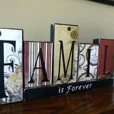 family wood blocks for your mantel clocks and gears is forever block letters rustic home decor