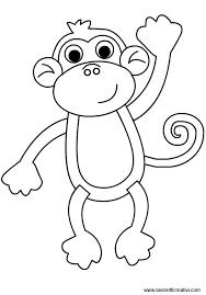 Stampabile Scimmia Disegno Da Colorare Disegni Da Colorare