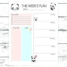 Cute Weekly Planner Within Printable Blank Schedule Template Agenda