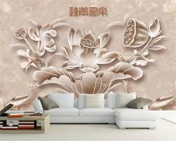 Kopen Beibehang 3d Behang Lotus Bloem Tapijt Tv Muur Achtergrond