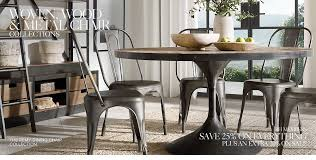 Wooden and metal chairs Homemade Metal Shop Wood And Metal Dining Chair Collections Restoration Hardware Wood Metal Woven Chair Collections Rh