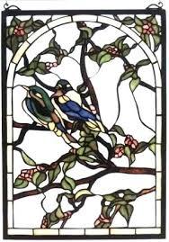 birds stained glass bird feeder pattern tweety