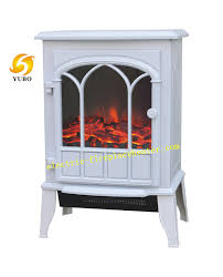 white black free standing desktop electric fireplace stove heater for villas