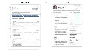 Cv Vs Resume Examples CV Vs Resume What Is The Difference [Examples] 7