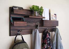 Dark Wood Coat Rack Furniture The Rewarding Wall Mount Coat Rack With Shelf for A Well 16
