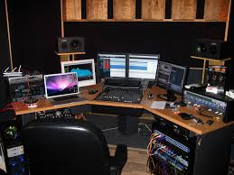 image of picture of recording studio desk