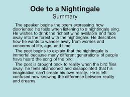 poets of the r tic age ppt  ode to a nightingale summary
