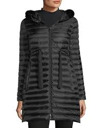 Moncler Barbel Quilted Puffer Coat with Fur Trim &  Adamdwight.com