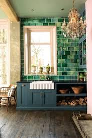 57 Creative Trendy Dark Green Tile Kitchen Backsplash Ideas With