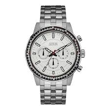 guess watches designer watches from guess h samuel guess men s round white dial stainless steel bracelet watch product number 4515293