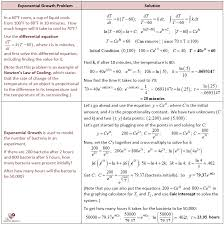 exponential growth problems