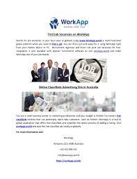 Find Job Vacancies On Work App