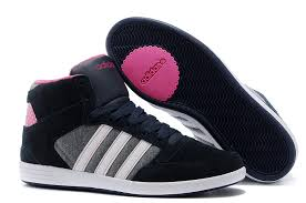 adidas shoes for girls 2017. 2017 adidas high-tops women shoes neo f39248 nvry blue pink for girls