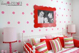 Polka Dot Bedroom Girls Bedroom Makeover Dimple Prints