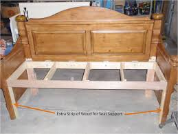 Headboard To Bench Diary Of A Crafty Lady Headboard Into Beautiful Stained Bench