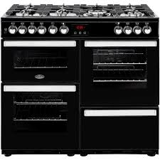 Why Dual Fuel Range Buy Belling Cookcentre 100dft Black 100cm Dual Fuel Range Cooker