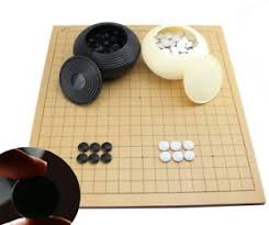 Game With Stones And Wooden Board Go Game Set With a Wooden Board Double Convex Plastic Stones and 21