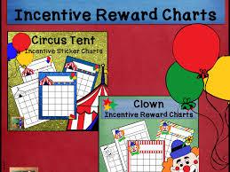 Winter Incentive Charts Circus Incentive Sticker Reward Charts Bundle