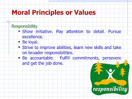 moral values character building moral principles or values
