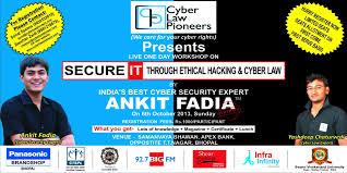 1 Day Ethical Hacking Workshop By Mr Ankit Fadia In Sagar Sagar