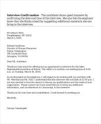 Interview Appointment Letter 7 Free Word Pdf Documents Download
