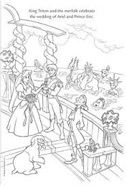 Small Picture The Little Mermaid Ariel Saving Prince Eric Coloring Page Online