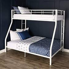 twin bunk beds white. Delighful Beds Walker Edison TwinOverFull Metal Bunk Bed White Throughout Twin Beds O