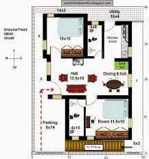 25 r18 2 houses 2bhk in 30x40 west facing requested plan