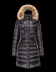 Discount Sales Moncler Women Coats Black With Fur Collar Removable Cap  Online