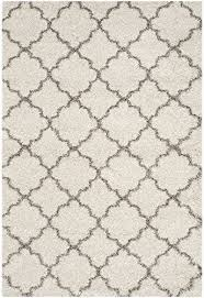 safavieh hudson collection sgh282a ivory and grey moroccan geometric quatrefoil area rug 5 1 x 7 6