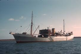 Vessel At Anchor Lights Irish Lights Vessel Granuaille 1948 At Anchor In Dun