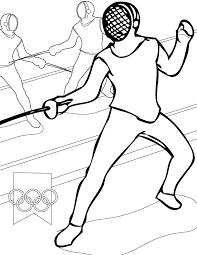 Fencing Coloring Page
