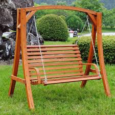 outside swing chair. Double Swing Chair Outdoor Self Standing Porch Wood Patio With Canopy Outside