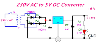 ac to dc converter circuit diagram ireleast info ac to dc converter circuit diagram the wiring diagram wiring circuit