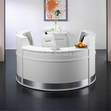 office front desk design artificial stone small round reception yellow worktop marble furniture corian d37 corian