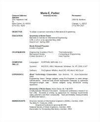 Resume For Engineering Mechanical Engineer Resume Engineering For Fresher Sample Doc