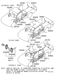wiring & attaching parts for 2001 2003 mitsubishi l200 triton mitsubishi l200 alternator wiring diagram wiring & attaching parts