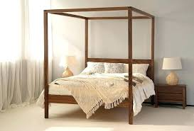 Wood Canopy Bed King White King Canopy Bed Furniture Canopy Beds ...