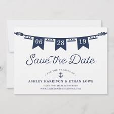 How To Make A Save The Date Card Maritime Nautical Flags Save The Date